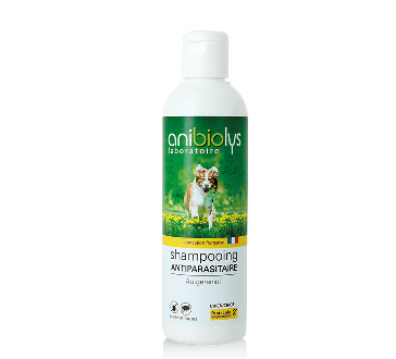 Shampooing antiparasitaire chiot-chien 250 ml Anibiolys